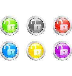 Padlock-open button vector