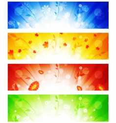 Banner collection vector