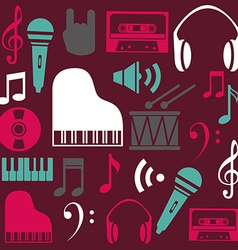 Music design over purple background vector