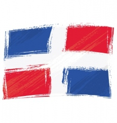 Grunge dominican republic flag vector