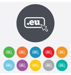 Domain eu sign icon top-level internet domain vector