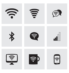 Wireless icons set vector