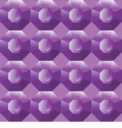Seamless background of purple gemstones vector