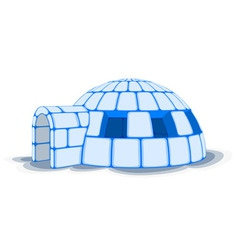 Snow igloo vector