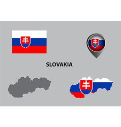 Map of slovakia and symbol vector