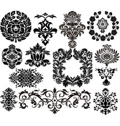 Damask elements vector