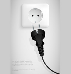 Power plug vector