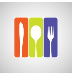 Cutlery color vector