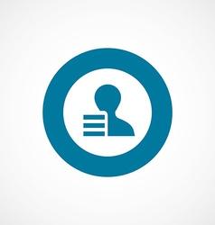 Application bold blue border circle icon vector