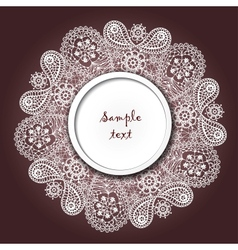 Ornamental winter hand-drawn lace snowflake vector