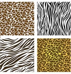 Pattern of animal print vector