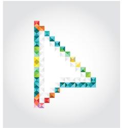 Abstract arrow of pixels vector