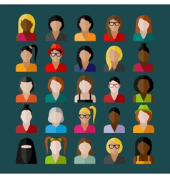 Women appearance icons people flat icons vector