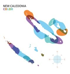 Abstract color map of new caledonia vector