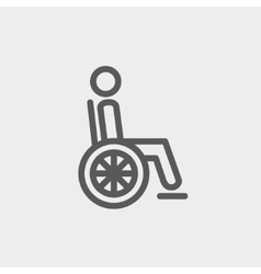 Disabled person thin line icon vector