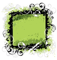 Green background black frame vector