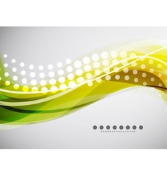 Flowing wave line background vector