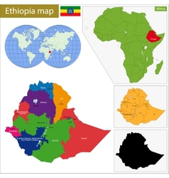 Ethiopia map vector