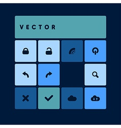 Design flat dark blue vector