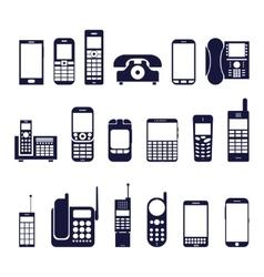 Icons phones vector