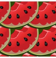 Seamless background with red fresh juicy vector