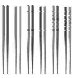 Chrome chopsticks vector