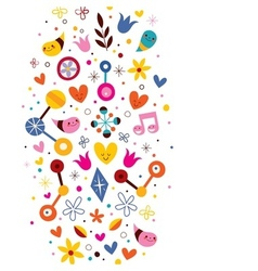 Nature love harmony fun abstract art background vector