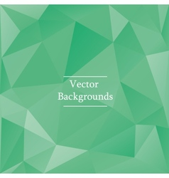 Abstract triangles background in green color vector