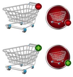 Basket button vector