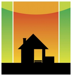 Cottage silhouette vector