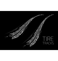 Tire tracks background vector