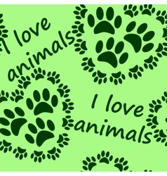 I love animals seamless pattern vector