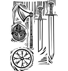 Viking weapons vector