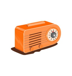 Radio retro vector
