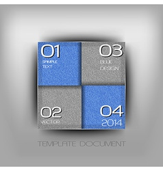 Business four squares blue with text grain vector