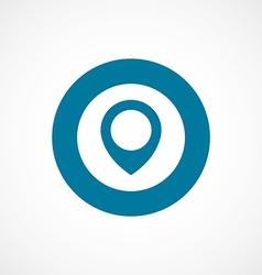 Map pin bold blue border circle icon vector