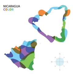 Abstract color map of nicaragua vector