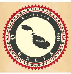 Vintage label-sticker cards of malta vector