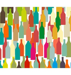 Background with bottles colors vector