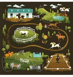Equestrian world vector