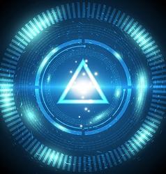 Triangle power digital button vector