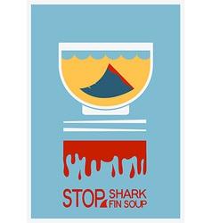 No shark finning soup poster vector