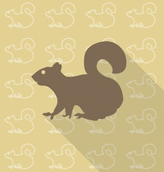 Squirrel sit vector