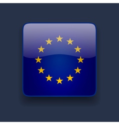 Square icon with flag of europe vector