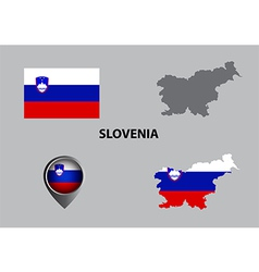Map of slovenia and symbol vector