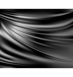 Black abstract satin curtain background vector