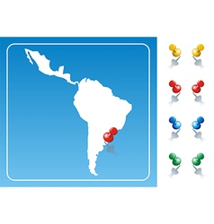 Latin america map vector