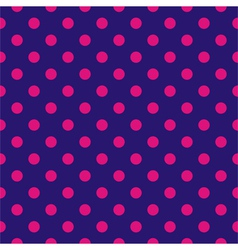 Tile pattern with pink polka dots blue background vector