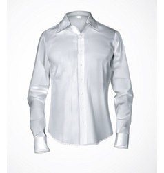 White male shirt vector