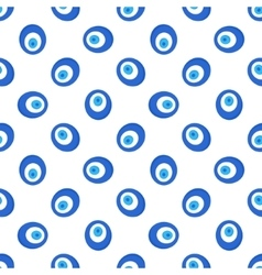 Turkish evil eye seamless pattern vector